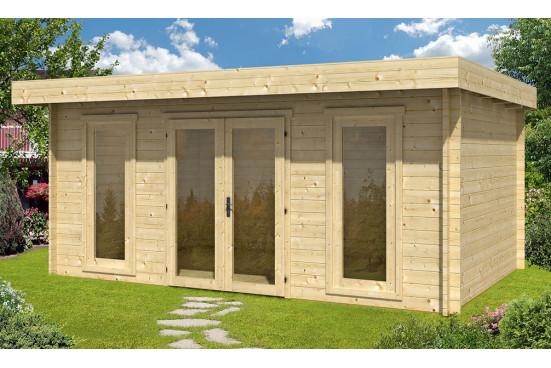 Abri de jardin CANNES 44mm - 16,8m² intérieur