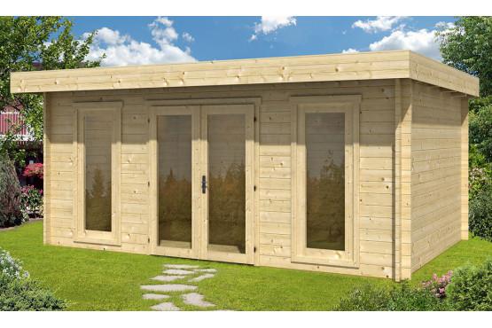 chalet bois CANNES 44mm WC - 16,8m² intérieur