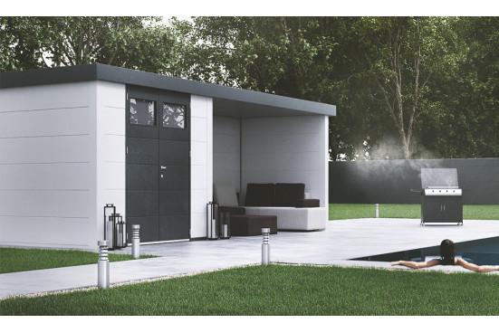 abri de jardin metal Eléganto 3024 Lounge dim 582x238 cm 1 porte double
