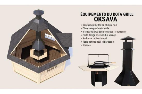 KOTA GRILL chalet bois OKSAVA madriers 44 mm