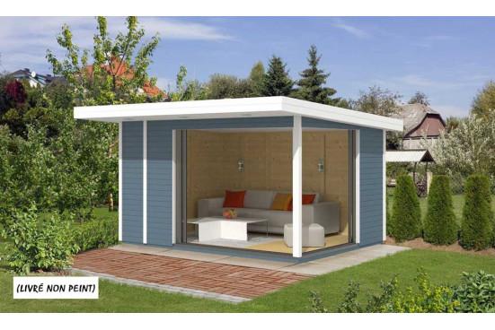 Bureau de jardin AIRI 10 menuiseries ALU - 9.22 m² intérieur
