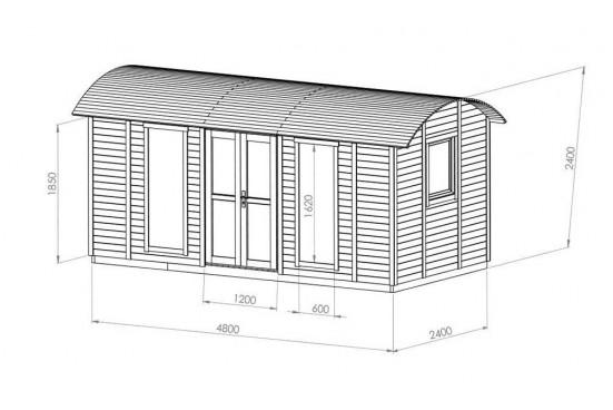 Roulotte de jardin Narva - 10.9 m² extérieur