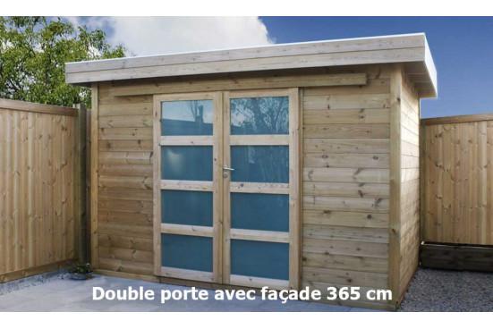 Abri jardin bois autoclave Vintage 225 toit plat panneaux 16mm