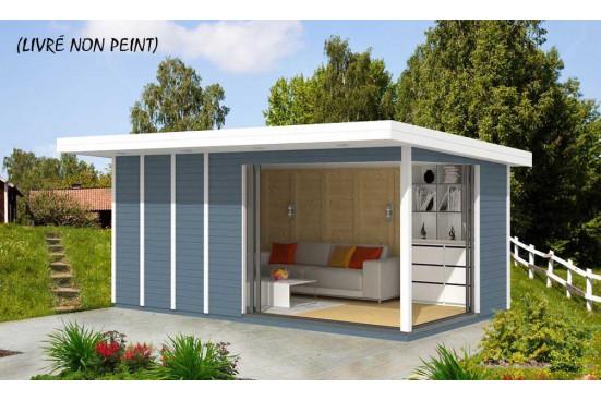Bureau de jardin AIRI 13 menuiseries ALU - 12.30 m² intérieur