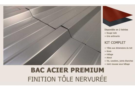 KIT Bac acier plat rouge ou gris anthracite pour Toulon