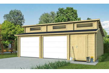 Garage HAWAÏ portes sectionnelles 44mm - 39,27m² intérieur
