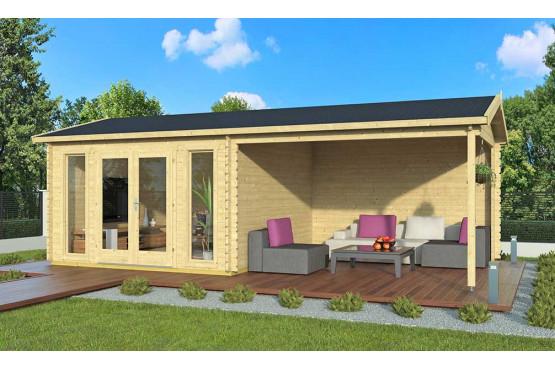 abri de jardin moderne ORLEANS 44 mm - 12,3m² intérieur + 12,3m²