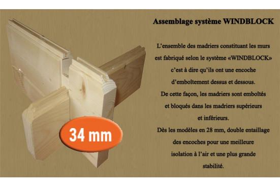 Abri de jardin Auch 34mm - 14,68m² intérieur