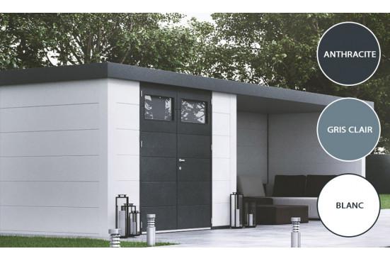 maison de jardin metal ElégantoAbri m 3024 Lounge dim 582x238 cm 1 porte double