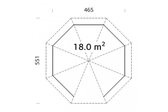 Tonnelle Aveyron - 9.9m² intérieur - poteaux 12x12
