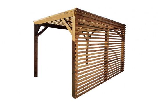 Pergola bois pour salon de jardin - 9.75 m²
