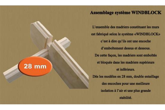 Abri de jardin LYON 15 28 mm - 13.87 m² intérieur