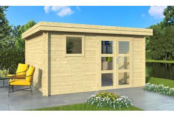 Cabanon de jardin bois LYON 15 28 mm - 13.87 m² intérieur