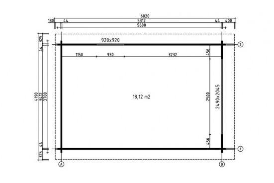 Garage Toulouse 44mm - 18,7m² intérieur