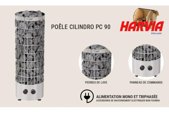 Poêle Harvia Cilindro PC 90 pour sauna