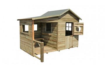 Cabane en bois pour enfants en bois traité Hacienda - 1,25m² intérieur