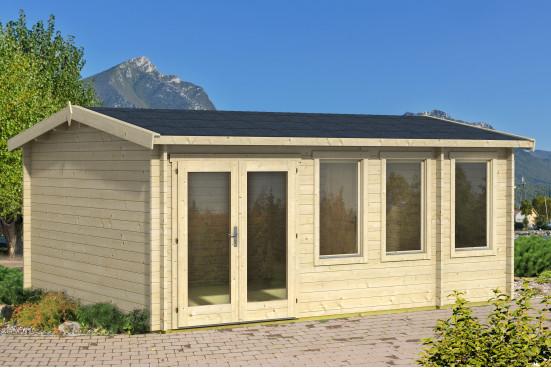 Abri de jardin DOURO - 40mm - 19,18m² intérieur