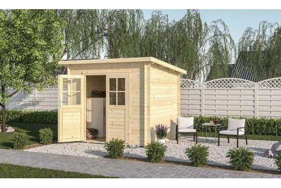 Abri de jardin LUNY 18 mm - 4.44m² intérieur
