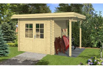 Abri de jardin appentis ROCHEFORT 34 mm - 5m² intérieur