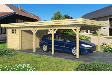Carport toit plat Reims - 39,78 m² couvert