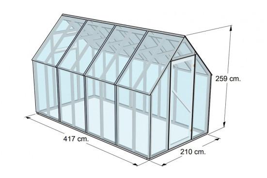 Serre de jardin Greenhouse 9 - surface intérieure 8m²