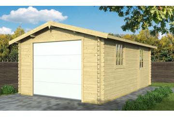 Garage MOUTIER porte sectionnelle 68mm contrecollés - 18,51m² intérieur