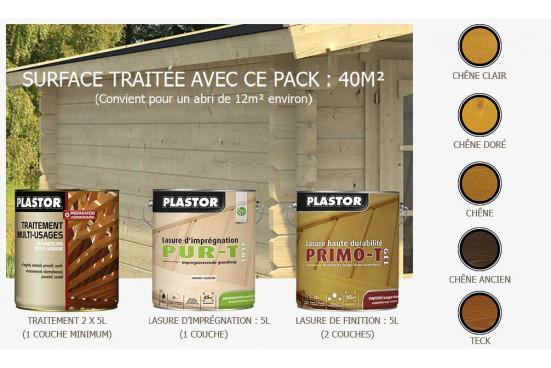 Pack lasure Plastor 4x5L