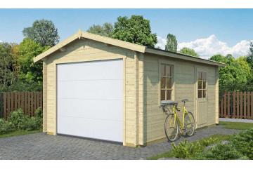 Garage ALLIER porte sectionnelle - 44mm - 15,8m² intérieur