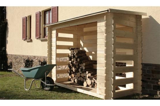 Bûcher bois 28mm - 2,72m² intérieur