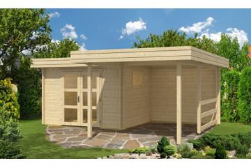 Abri de jardin TOULON 44mm - 7,5m² intérieur + 11,2m²