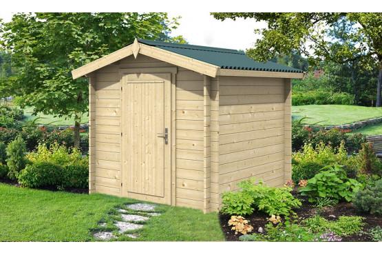 Abri de jardin OUVRIER 1 34 mm-4m² intérieur - double pente - Pratique pour les petits espaces