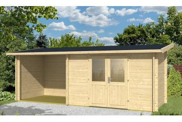 Abri de jardin TARBES 44mm - 6,3m² intérieur + 4,9m²