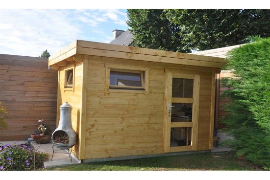 Abri de jardin ANNECY 1 28mm - 7,3m² intérieur
