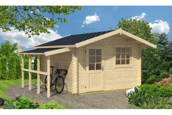 Appentis bûcher 2.30 m², 109 x 304 pour abri de jardin