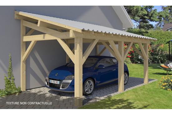 Carport voiture Dinard - 19.6 m² couvert